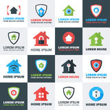 Home Security Logos Set Stock Photography