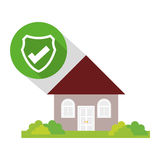 Home security policy guard button shadow Royalty Free Stock Image