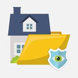 Home security policy insurance. Illustration eps 10 Stock Photo