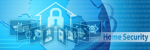 Home Security Protection Banner. Home Security Protection Concept Banner Stock Photography