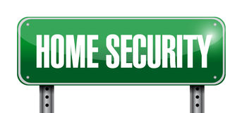 Home security road sign illustration Stock Images