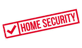 Home Security rubber stamp Stock Photos