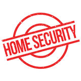 Home Security rubber stamp Stock Images