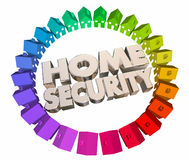 Home Security Safety Crime Prevention Houses Stock Image