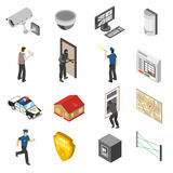 Home Security Service Isometric Icons Set Stock Photos