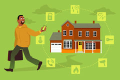 Home security system Stock Images