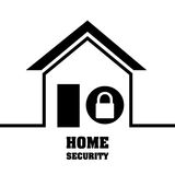 Home security system lock privacy protection. Illustration eps 10 Stock Photo