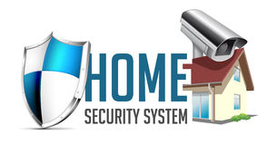 Home security system logo Royalty Free Stock Image
