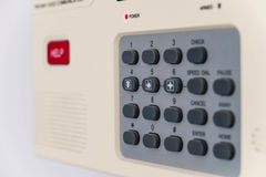Home security system, shallow depth of field, selective focus Stock Photo