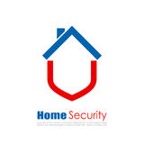 Home security vector logo. Home security vector abstract logo Royalty Free Stock Images