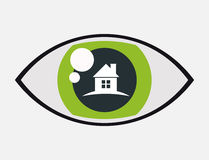Home security vigilance eye protection. Home securityvigilance eye protection  illustration eps 10 Royalty Free Stock Images