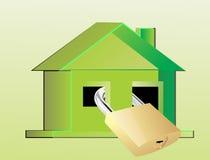 HOME segura Imagens de Stock Royalty Free