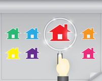 Home selection concept Stock Photo