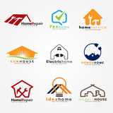 Home service and modern logo vector set art design Stock Images