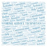 Home Service Technician word cloud. Wordcloud made with text only royalty free stock photo
