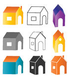 Home set. Illustration of home set design on white background Stock Photo