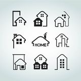 Home. Set of 9 home collections Royalty Free Stock Images