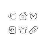 Home set icons Royalty Free Stock Image