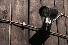 Home set security camera with cables. Royalty Free Stock Image