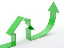 HOME-seta Imagens de Stock