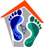 Home sexual footprint. Illustration art home sexual footprint with isolated background Royalty Free Stock Photos