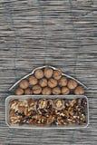 Home shape nuts Stock Photos