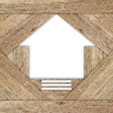 Home shape of wood texture. Stock Images