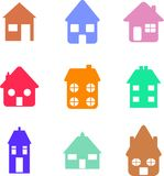 Home shapes royalty free illustration