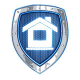 Home and shield Royalty Free Stock Images