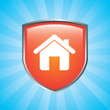 Home shield Stock Photo