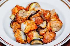Home shish kebab Royalty Free Stock Photo