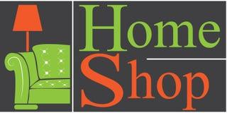 Home shop logo. Vector logo home shop for furniture Royalty Free Stock Photo