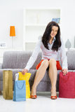 At home after shopping Stock Image