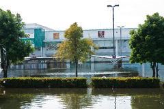 Home shopping Lotus. Nava NakornBangkok, Thailand. Bangkok, Thailand - November 14: Home shopping Lotus. Nava Nakorn Industrial Park is in high flood, November Royalty Free Stock Photography
