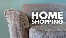 Home-Shopping Möbelgeschäft fasst Sofa ab Stockbilder