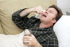 Home Sick - Medication Royalty Free Stock Photos
