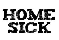 Home Sick typographic stamp. Typographic sign, badge or logo Stock Photos