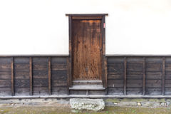 The home side door made of wood Royalty Free Stock Photo