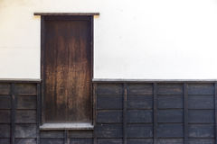 The home side door made of wood Stock Photos
