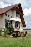 Home side view. In sunny day Royalty Free Stock Photography