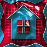 Home Sign. Colorful abstract home symbol illustration Royalty Free Stock Photo