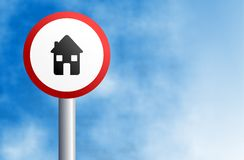 Home sign Stock Image