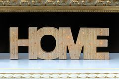 Home sign decor royalty free stock images