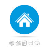 Home sign icon. Main page button. Navigation. Royalty Free Stock Photography