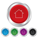 Home sign icon. Main page button. Navigation Stock Image