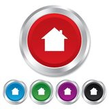 Home sign icon. Main page button. Navigation Stock Photo