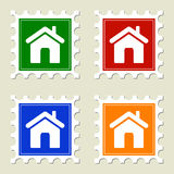 Home Sign Stamps Stock Photos