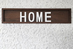 Home sign Stock Photography