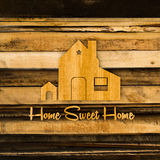 Home silhouette sign Stock Photos