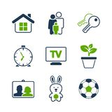 Home simple vector icon set Royalty Free Stock Photography